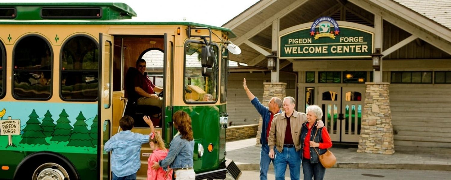 Getting Around Town on the Pigeon Forge Trolley